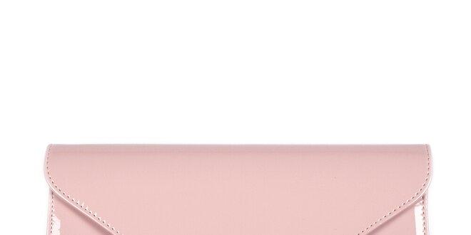 455d4bdb81 Dámska svetlo ružová listová kabelka Felice