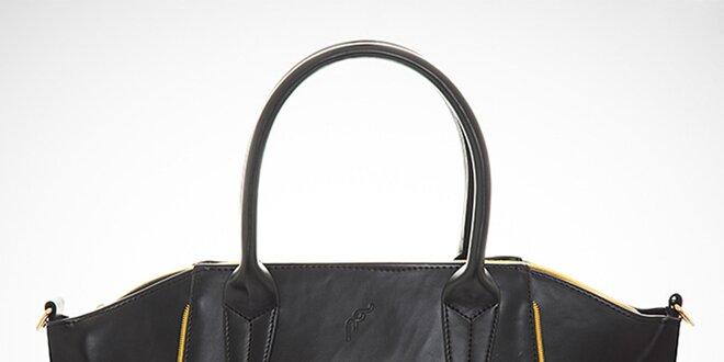 a57cc98153 Dámska čierna kabelka s kontrastnými zipsami Felice