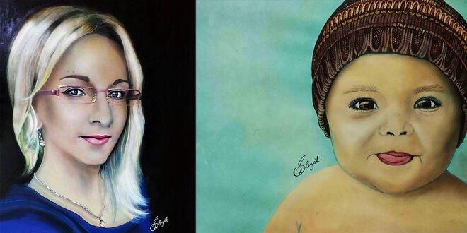 Umelecky maľovaný portrét