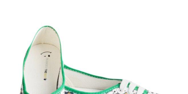 9b758b1fb Dámske zelené tenisky s tučniakmi The Bees | Zlavomat.sk