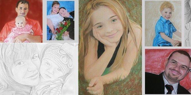 Čiernobiely alebo farebný portrét z fotografie veľkosť A3, A4, A5