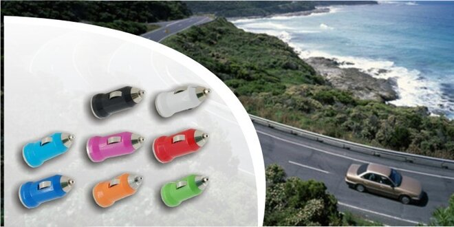 Nestraťte energiu na cestách – mini USB auto nabíjačka s USB výstupom, 2 kusy
