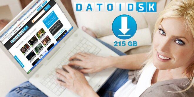 Sťahovanie videa, hudby a dát - 85 GB alebo 215 GB