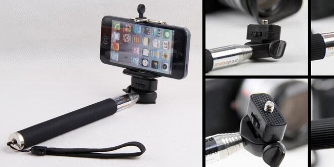 Teleskopická tyč pre fotenie skvelých Selfie fotiek mobilom alebo fotoaparátom. Skrátka, odfoťte sa sami!
