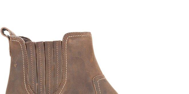 cee506182c40 Dámske hnedé kožené topánky Clarks