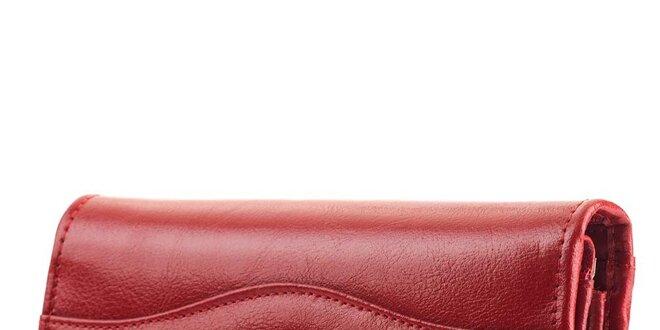 Dámska červená obdĺžniková peňaženka Felice