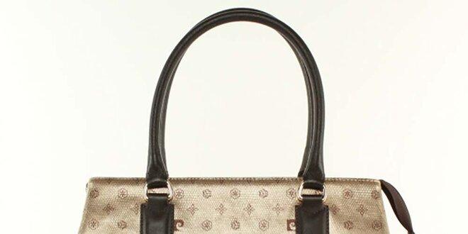 Dámska kabelka s tmavo hnedými prvkami Pierre Cardin