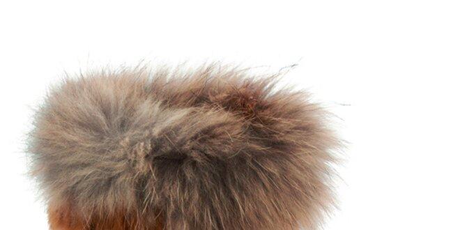 Dámske hnedooranžové snehule s kožušinkou Keddo  9c39ef0105b