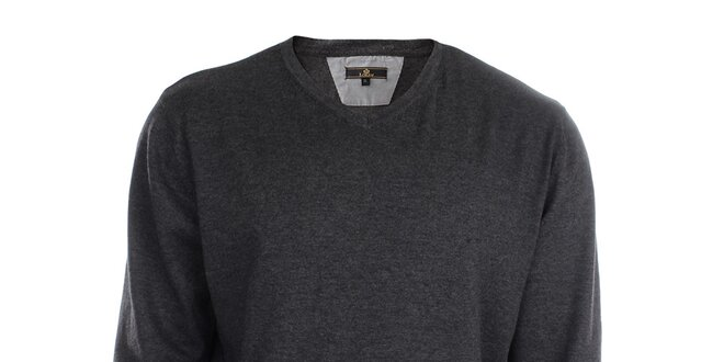 580775ba5fb7 Pánsky antracitový sveter Loram