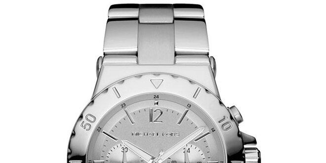 Dámske hodinky s chronografom Michael Kors - strieborná farba