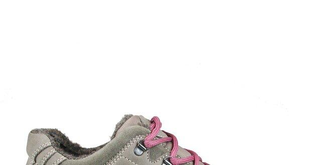 b715193db0 Dámske šedo-béžové športové topánky Numero Uno