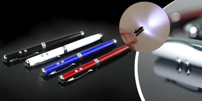 Pero 4 v 1 (pero, laser, led svetlo, stylus pre kapacitný dotykový displej)