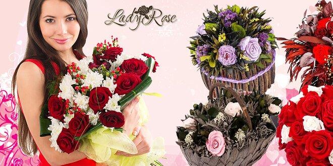 Rozplesajte jej srdce darčekom z večných ruží