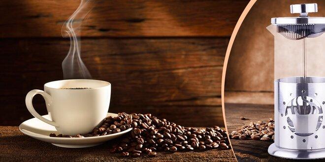 Francúzsky tlakový hrnček na lahodnú kávu alebo sypaný čaj