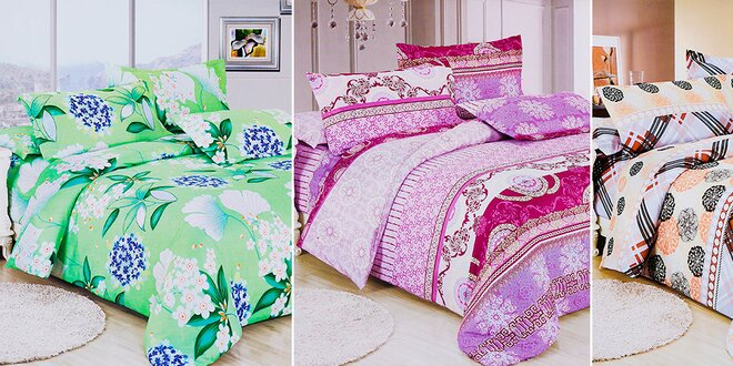 Kvalitná posteľná bielizeň + dodanie; 10 vzorov