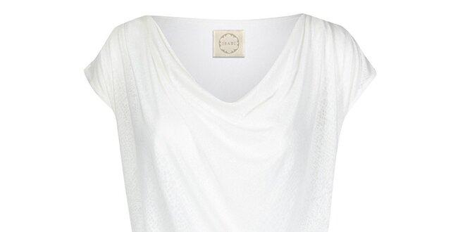 Dámsky biely top s vodovým výstrihom Isabi