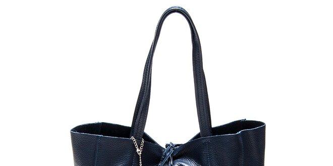 Dámska akvamarínovo modrá kožená kabelka Luisa Vannini  6fe1918145c