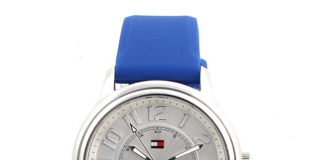 107812c80b8e Dámske analógové hodinky s modrým silikónovým remienok Tommy Hilfiger