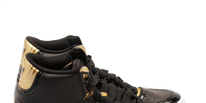 df4bf3745 Dámske čierne členkové tenisky so zlatými detailmi Adidas | Zlavomat.sk