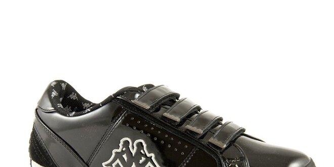 81c1af8be4f0 Čierne lesklé tenisky Kappa Rhome V