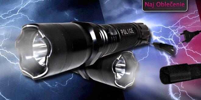 Policajná baterka s paralyzérom + kaser alebo policajná baterka SWAT 500 - lumenová baterka