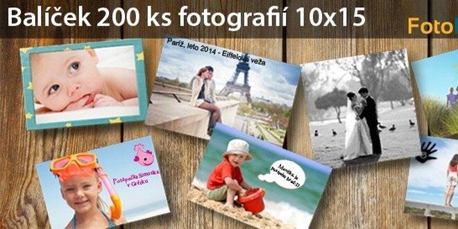 FUJIFILM: 200 kusov fotografií 10x15 cm