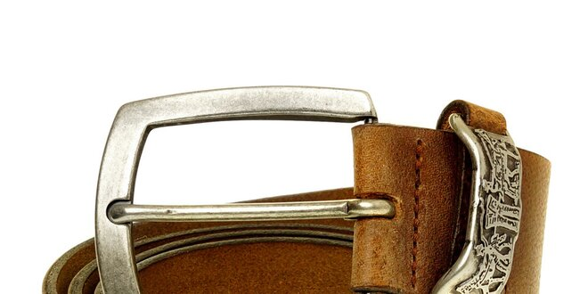 Pánsky hnedý kožený opasok Levi´s