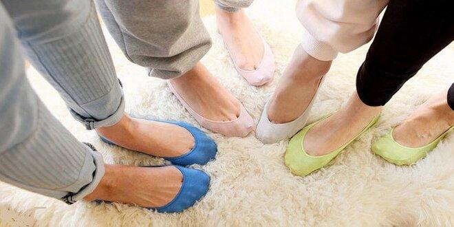 Bambusové ponožky do balerín, 12 párov