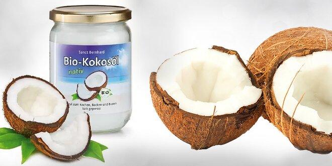 BIO 100 % kokosový olej bez prímesí 500 ml