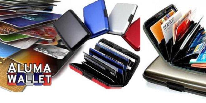 Štýlové puzdro na kreditné karty Aluma Wallet