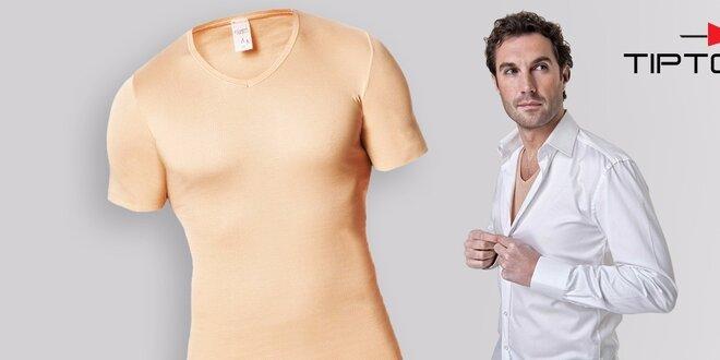 ad41815ffc46 Kvalitné pánske neviditeľné tričko pod košeľu