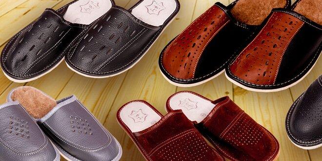 Pohodlné teplučké pánske papučky