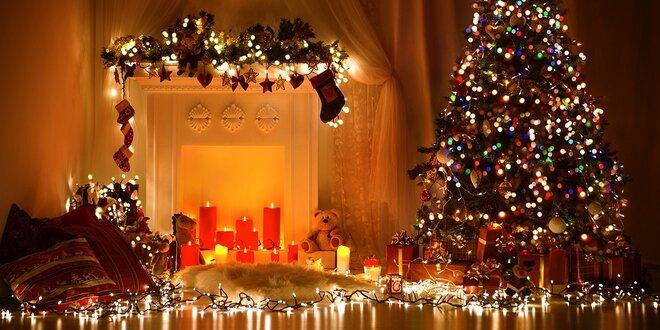 LED vianočné svetielka rôznych farieb