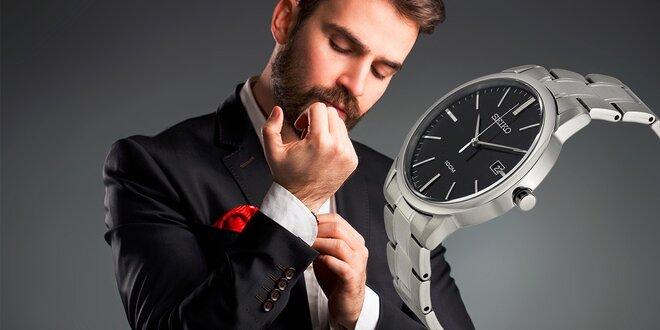 Luxusné štýlové pánske hodinky značky Seiko