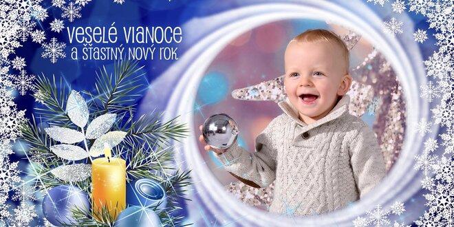 Vianočné magnetky z vlastnej fotografie