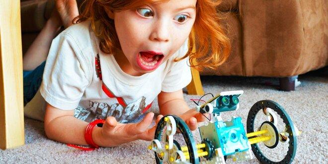 Náučná hračka - solárna stavebnica Robot 14 v 1