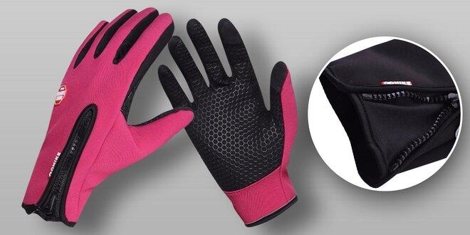 Vode a vetru odolné dotykové rukavice