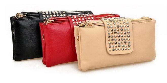 Luxusná listová kabelka s cvokmi