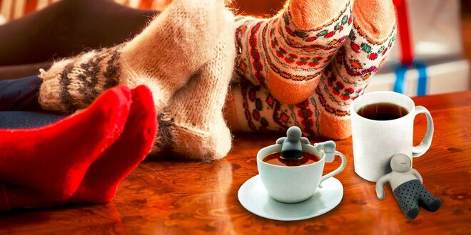 Originálne veselé sitká na čaj v netradičných tvaroch