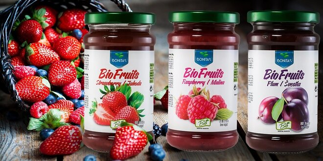 BIO lekvár a BIO ovocné džemy BONITAS BioFruits