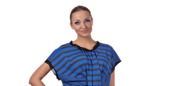 d3f35470496c Dámske modré prúžkované šaty Killah
