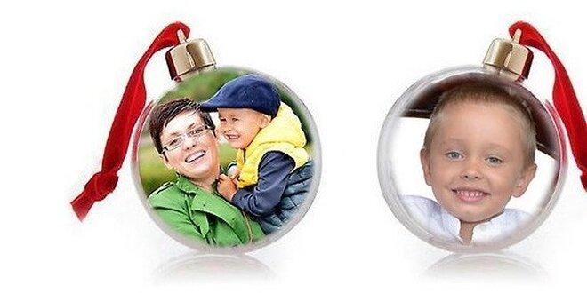 Vianočná guľa s vlastnou fotografiou