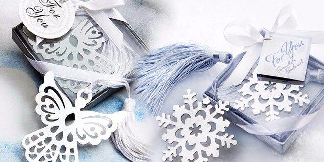 Štýlové záložky do knihy - na výber z motívov snehovej vločky, anjela…