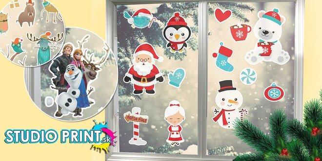 Vianočné samolepky na okno