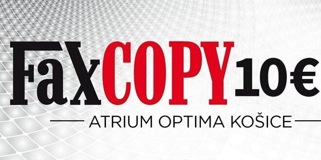 10 € kupón na služby v novej predajni FaxCOPY