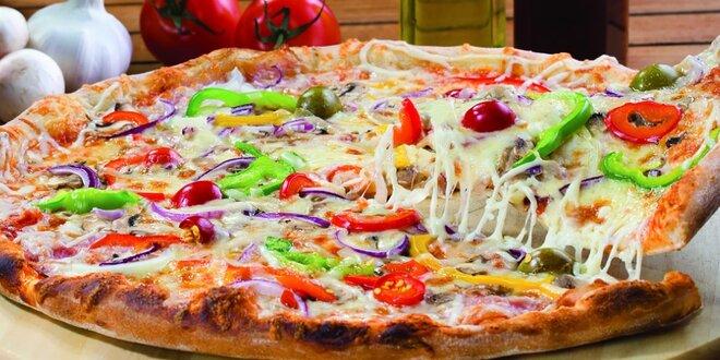 Pizza, rizoto alebo cestoviny + dezert pre 2 osoby