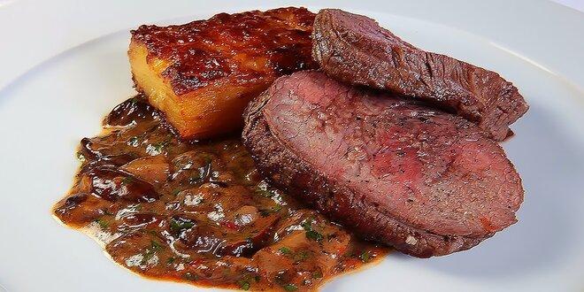 Bio rump alebo flank steak s rafinovanou prílohou
