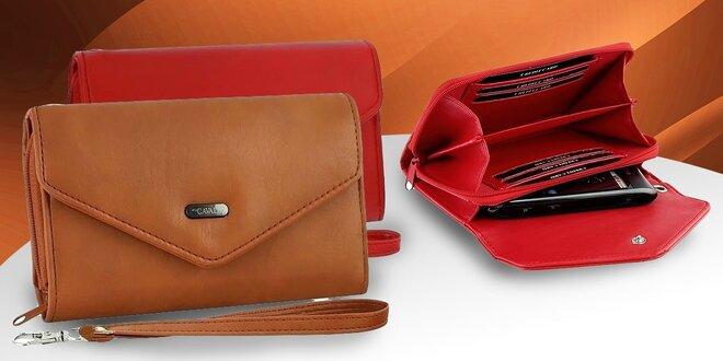 Peňaženka s puzdrom na mobil a na doklady v jednom