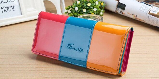 Elegantná a praktická trojfarebná peňaženka