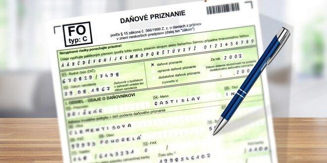 Vytvorenie daňového priznania fyzická osoba/živnostník
